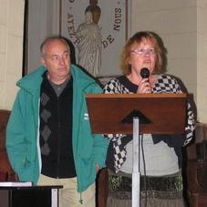 Jean-Louis Talvard, maire de St Christophe avec Monique Guéguen