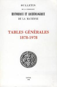 Tables générales 1878-1978