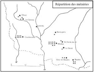 carte des métairies