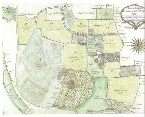 La métairie de Grand Grenusse au début du XIXe (Arch. dép. Mayenne)