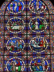 Verrière de Lusson, cathédrale de Laval